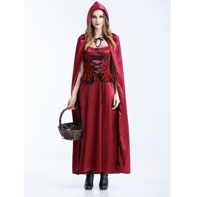 New Halloween Little Red Riding Hood Cosplay Costumes M40470