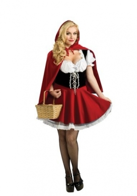 red hot sale maid costume m4789